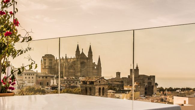 Views of the Cathedral of Palma from the Hotel Almudaina