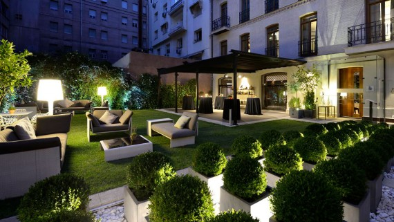 Garden of the Unique Hotel, Madrid