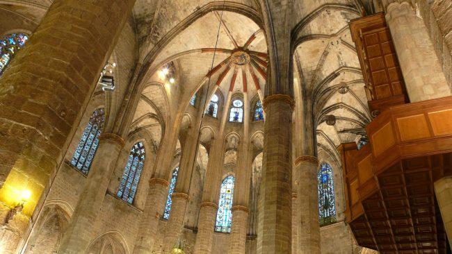 Interior of the Basilica of Santa Maria del Mar, Barcelona