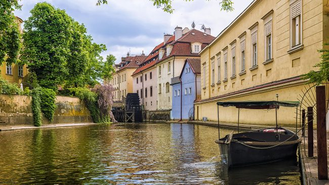 Kampa Island in the Malá Strana neighborhood, Prague