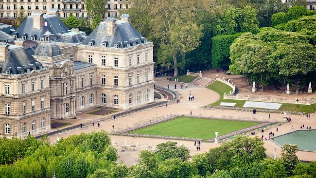 Views of the Luxembourg Gardens from the Montparnasse Tower