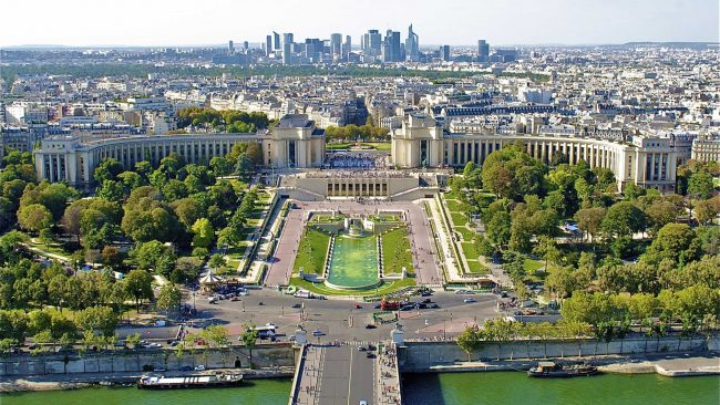The Trocadero Gardens in Paris