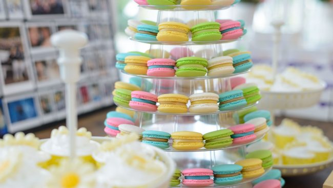 Macarons: traditional dessert in France