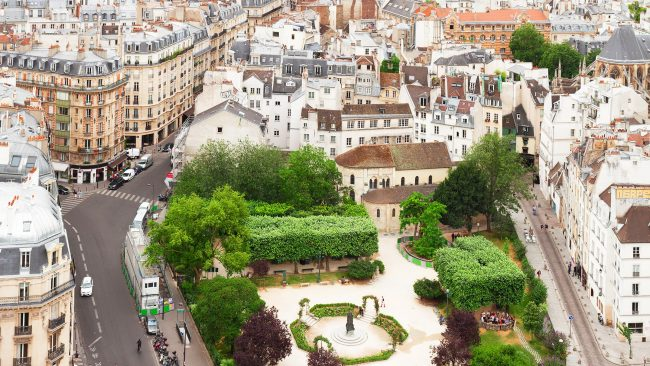 Views of the Latin Quarter or Latin Quartier of Paris