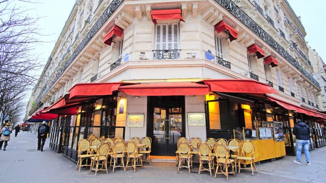 Typical Parisian restaurant