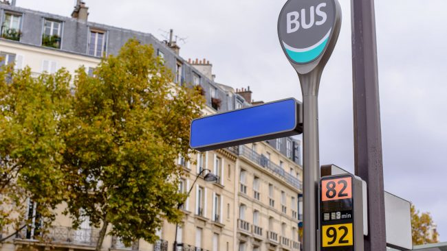 Getting around the city of Paris by bus