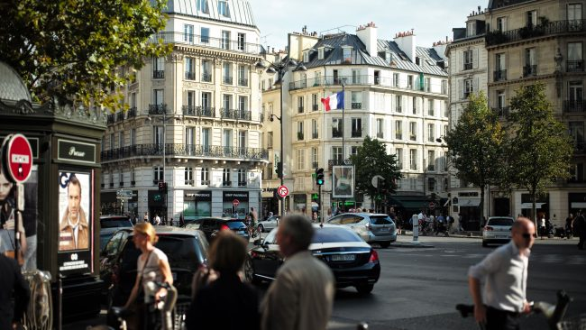 The Boulevard Saint Germain in Paris