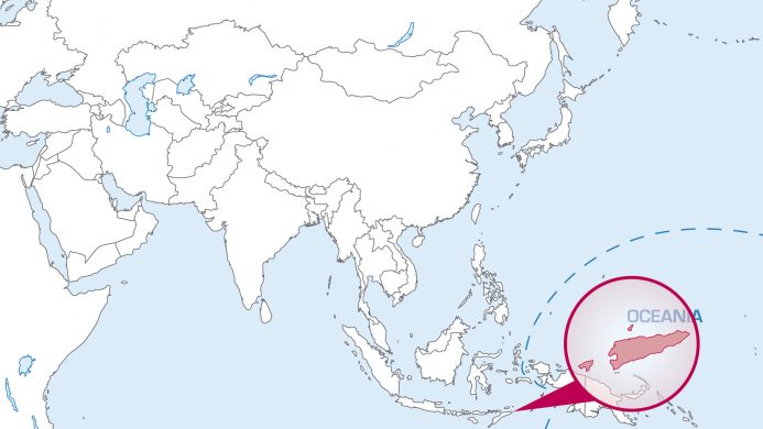 Location of East Timor on the map