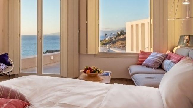 Suite de luxe à l'hôtel Boheme Mykonos