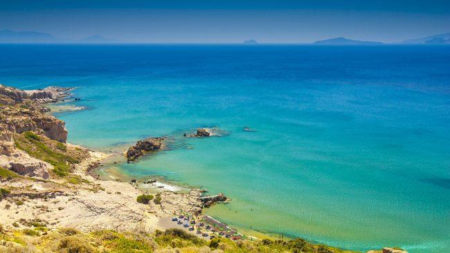 Plage paradisiaque à Mykonos