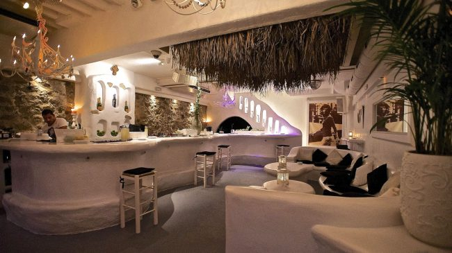 Interior of the JackieO 'Mykonos Bar