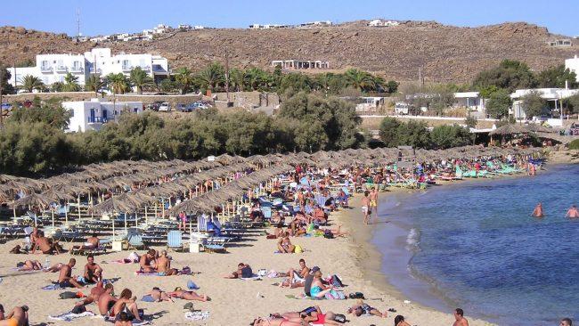Plage de Paranga à Mykonos