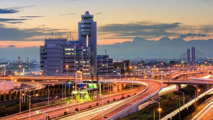 Views of Haneda International Airport in Tokyo