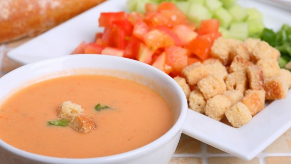 The famous Andalusian gazpacho