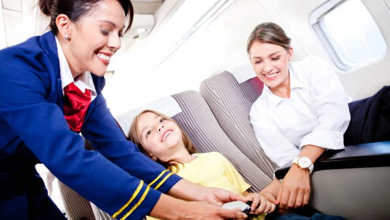 Children and the fear of flying