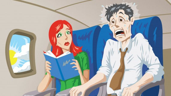 Symptoms of aerophobia or fear of flying