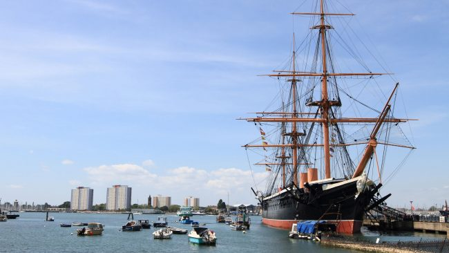 Port de Portsmouth, Angleterre