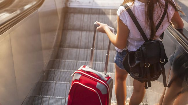 Two packages in hand luggage with Vueling