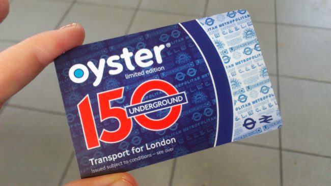 Oyster Card: the most convenient method of payment for transport in London