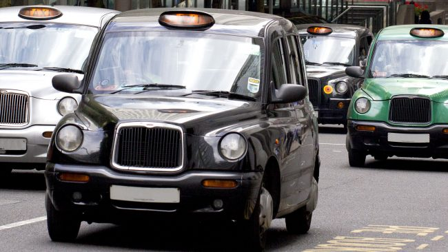 The taxi: the most comfortable means of transport in London
