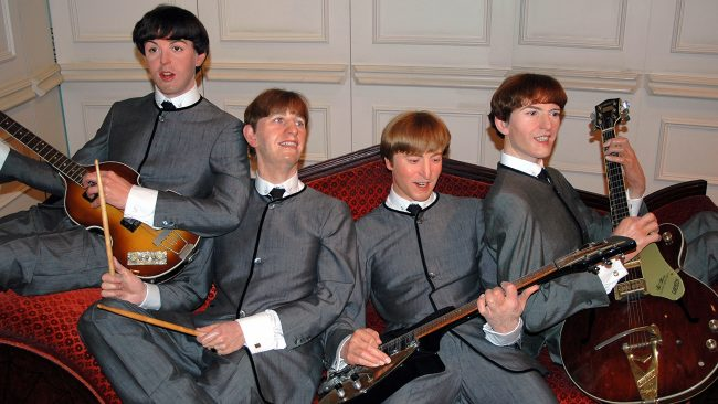 Beatles figures in Madame Tussauds Museum, London