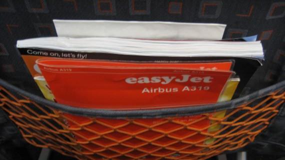 Free easyJet magazine on board