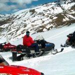 Snowmobiles in Cerler