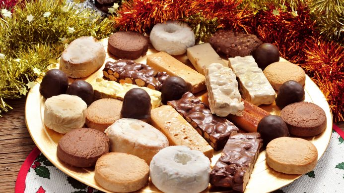 Mantecados and nougat typical of Christmas in Spain