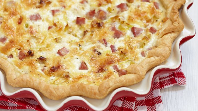 Quiche Lorraine typical of French gastronomy