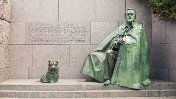 Franklin D. Roosevelt Monument in Washington DC