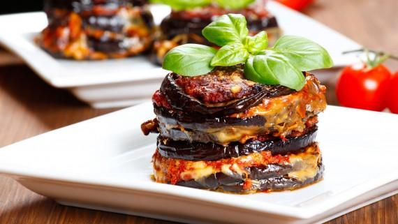 Parmigiana di melanzane or eggplant parmesan