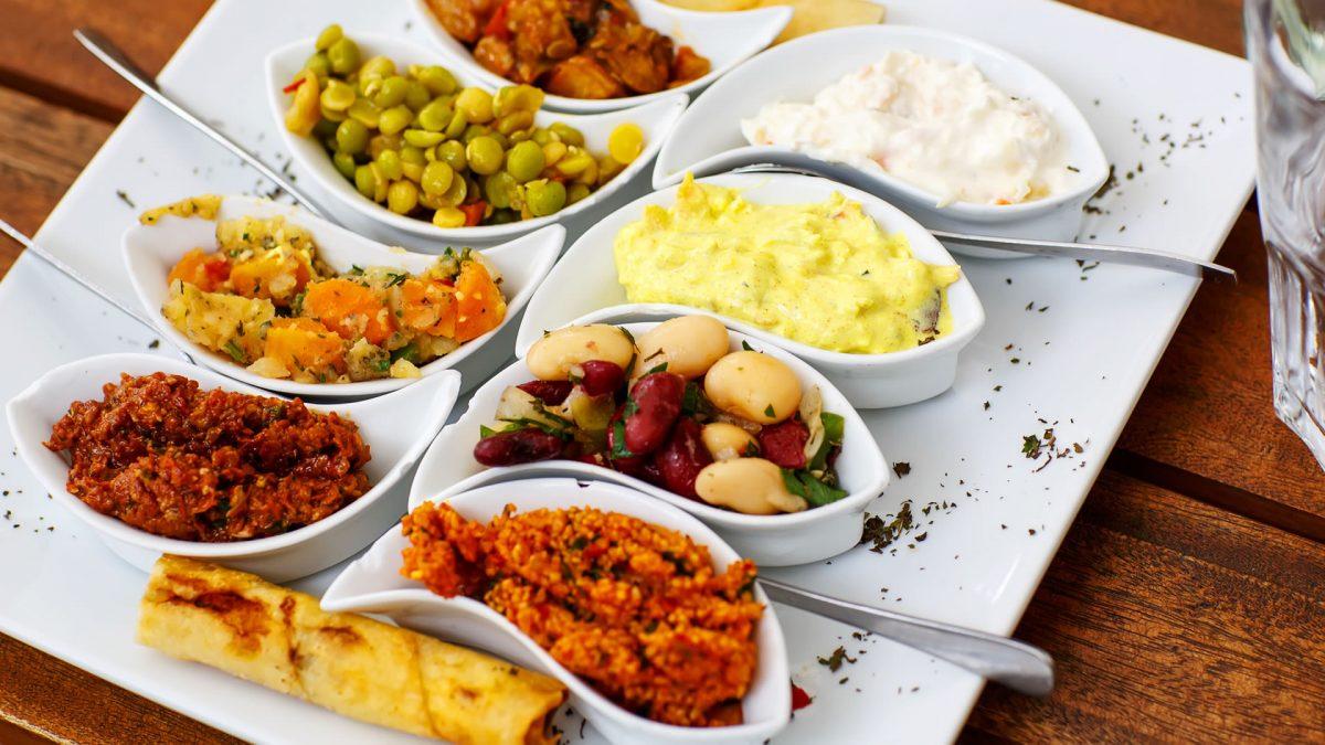 Greek food Greek mezzedes or snacks
