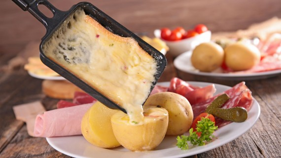 Raclette cheese, a basic in all raclette