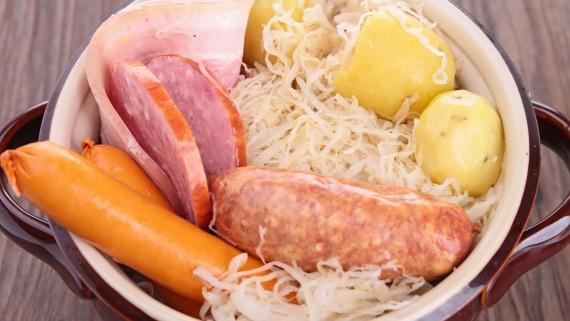 Choucroute or Sauerkraut