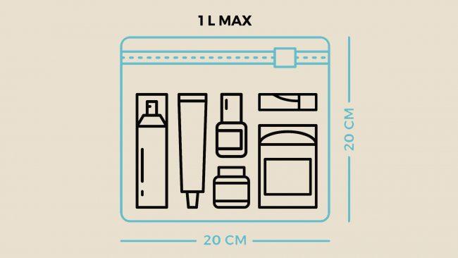 Règles de transport des liquides avec easyJet