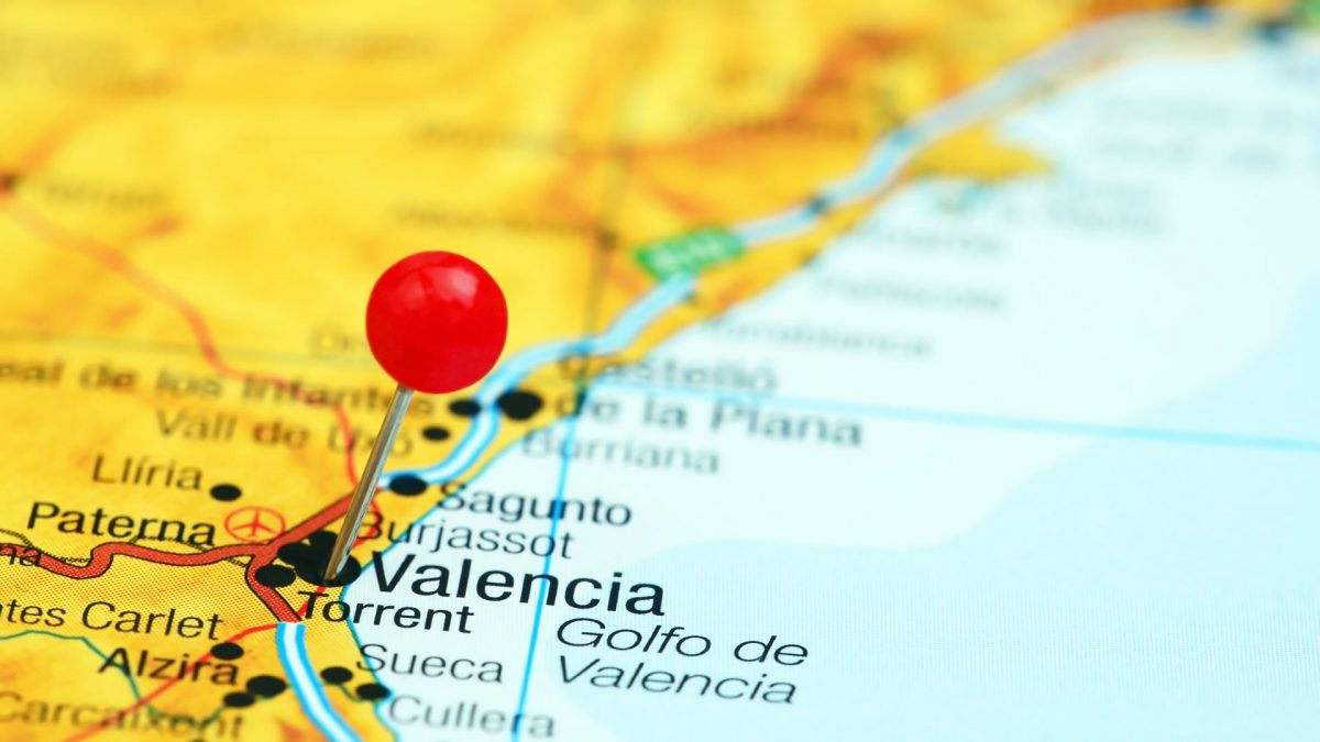 Destinations offered by Ryanair from Valencia