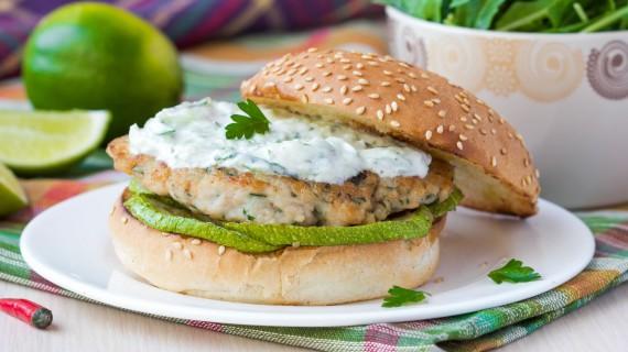Greek style hamburger