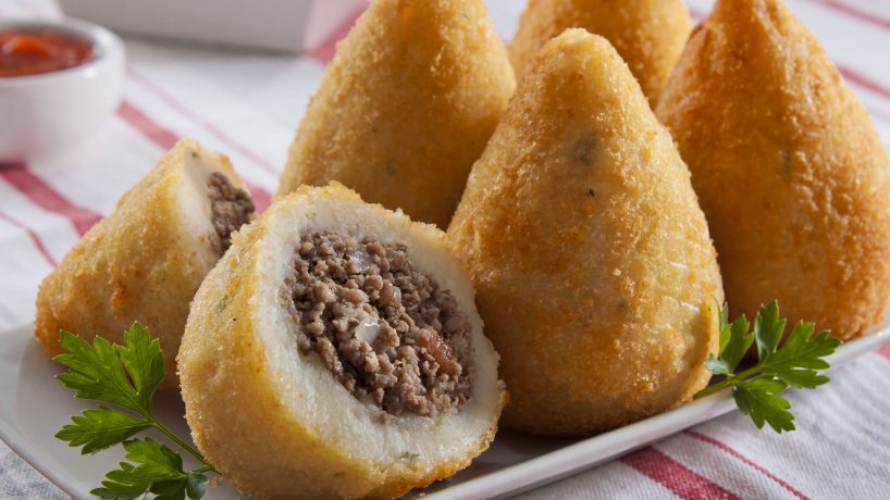 Typical Brazilian food main dishes and desserts