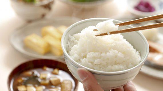 Consumption of rice in oriental cuisine
