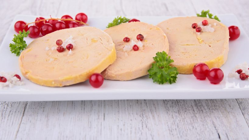 Typical food of France foie gras