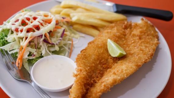 Peruvian-style fried trout