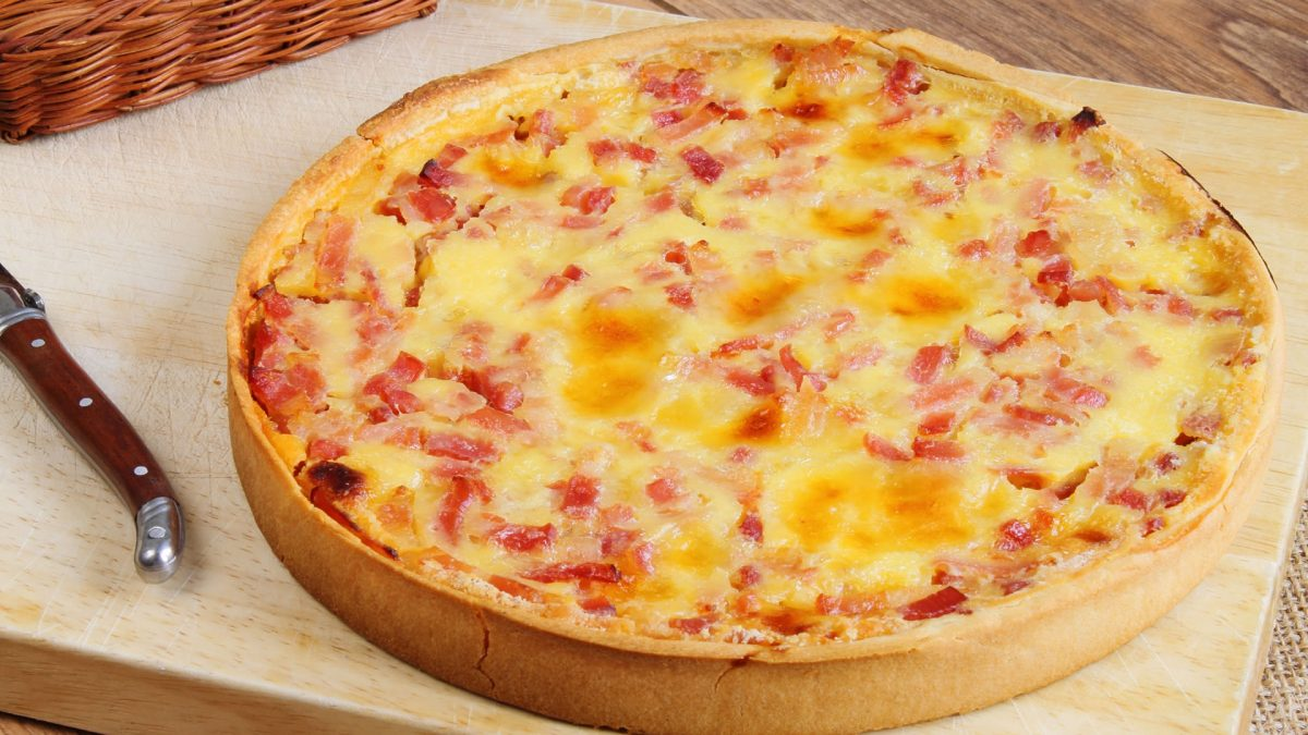 Typical food of France la quiche lorraine