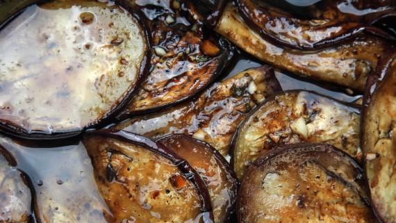 Pickled eggplants