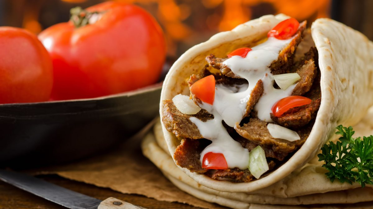 Typical food of Greece gyros