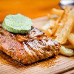 Typical food of Germany Gebratene Fleisch