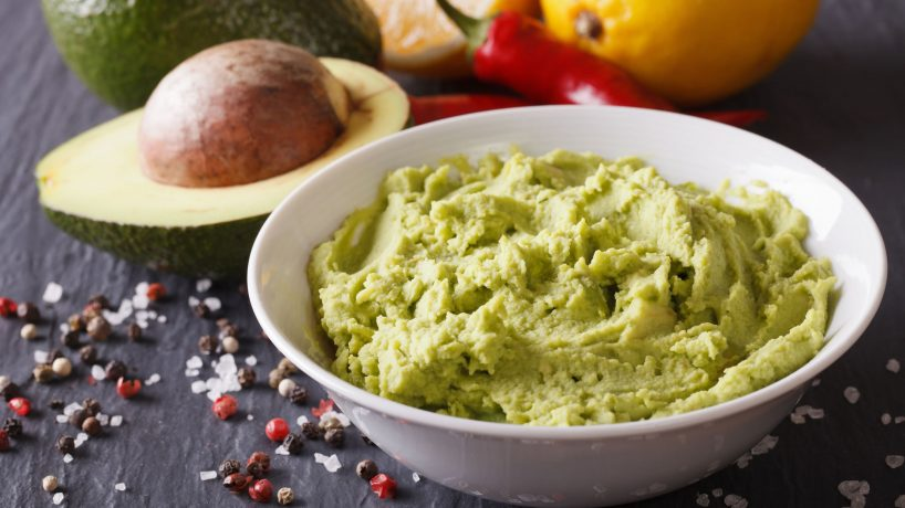 Typical food of Mexico the guacamole