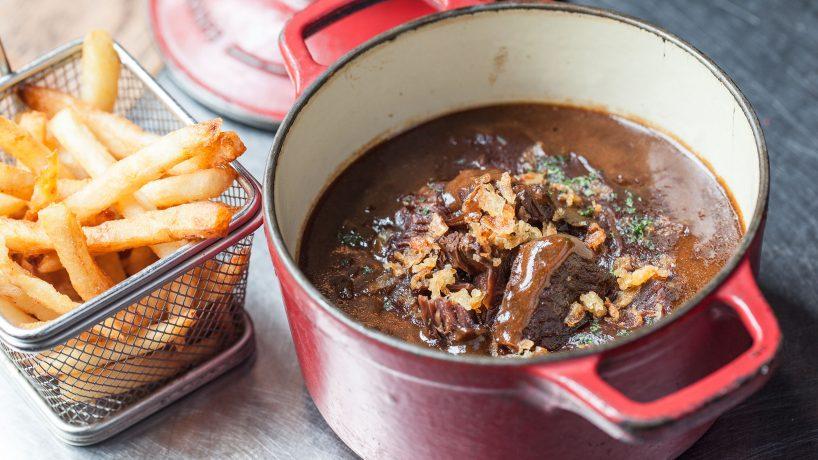 Typical food of Belgium Stoofvlees