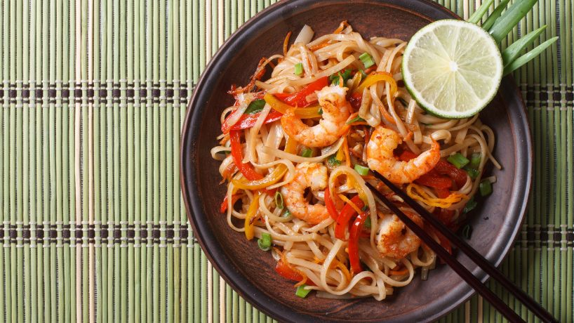 Typical food of Thailand Pad Thai