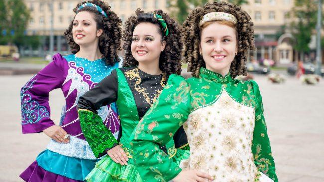 Robe de danse irlandaise