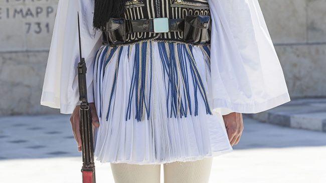 Fustanella, official uniform of the Greek Presidential Guard